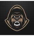 Angry Gorilla logo symbol vector image vector image