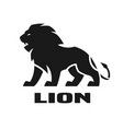 angry lion monochrome logo vector image vector image