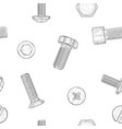 bolts and screws hand drawn sketch as seamless vector image