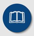 book sign white contour icon in dark vector image vector image