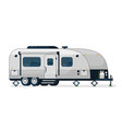 camping trailer isolated camper vehicle vector image