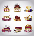 casino related icons vector image