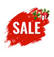 christmas sale with blob vector image vector image