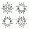 Christmas snowflake icon set Thin line signs vector image vector image
