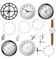 clock elements vector image