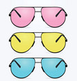 colorful sunglasses vector image