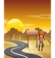 Cowgirl Road Signboard vector image vector image