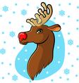 deer cartoon back vector image vector image