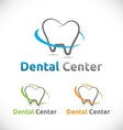 Dental care center logo element design