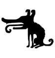 dog cartoon stencil vector image vector image