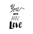 Doodle lettering about love vector image vector image