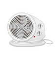 electric heater with fan radiator appliance for vector image vector image