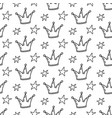 fairy tale princess seamless pattern vector image