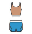 female gym dress icon vector image