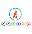 flame rounded icon vector image vector image