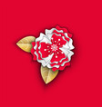 flower made paper decor origami for holiday vector image vector image