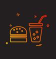 food icon design vector image