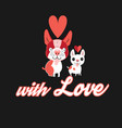 funny dog lovers vector image vector image