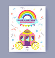 happy birthday little princess bright poster vector image vector image
