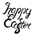 happy easter lettering badge and card for vector image