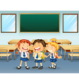Happy students vector image vector image