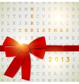 Holiday banner with red ribbons background 2013 vector image vector image