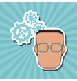 icon of business people design vector image vector image