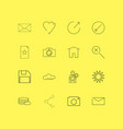 interface linear icon set simple outline icons vector image vector image