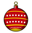 isolated christmas tree ball vector image vector image