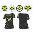 Jamaican T-Shirt vector image vector image