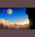 landscape forest in mountain in morning vector image vector image