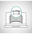 learn online book graduation vector image vector image