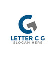 letter c g logo icon design template vector image