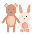little bear teddy withbunny stuffed toys square vector image vector image