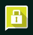 lockLongShadow vector image