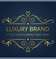 luxury brand gold text template vintage design vec vector image