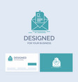 mail contract letter email briefing business logo vector image