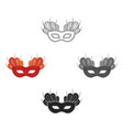 mask icon in cartoonblack style isolated on white vector image
