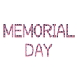 Memorial day inscription made from USA flags vector image