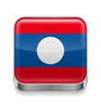 Metal icon of Laos vector image vector image
