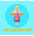 oktoberfest festival poster or cars vector image vector image