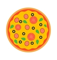 Pizza top view vector image vector image