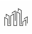 real estate logo minimalist isolated in white bac vector image vector image