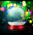 Realistic christmas snow globe