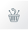 returns icon line symbol premium quality isolated vector image