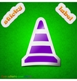 road cone icon sign Symbol chic colored sticky vector image