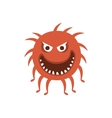 Round Red Hairy Aggressive Malignant Bacteria vector image vector image