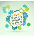 saint patrick s day mug clover leaves background v vector image