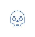 scull emoji line icon concept scull emoji flat vector image vector image