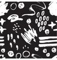 seamless trendy modern brush stokes spots vector image vector image